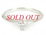 TIFFANY&Co Pt950K diamond ring 0.28ct size 11