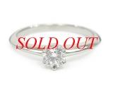 TIFFANY&Co Pt950K diamond ring 0.20ct size 8