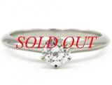 TIFFANY&Co Pt950K diamond ring 0.37ct size 9