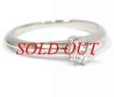 TIFFANY&Co Pt950 diamond ring size 6 0.23ct