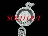 Đồng hồ Chopard nữ happy diamond K18WG x diamond