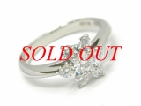 Nhẫn TIFFANY&Co Pt950 x diamond size 8