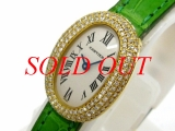 Đồng hồ Cartier K18YG nữ dây da
