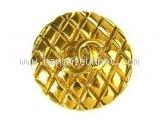 Cài áo Chanel gold plated Chanel pin