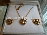 MS2542 Bộ vòng cổ bông tai Christian Dior màu vàng
