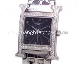 USED SA Đồng hồ Hermes H watch diamond đồng hồ nữ