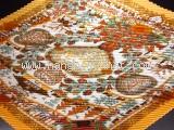 MS2679 Khăn Hermes silk xoăn màu vàng