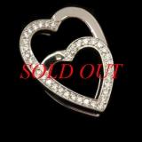 Mặt dây chuyền Cartier Kim cương hình trái tim
