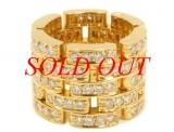 Nhẫn Cartier 5 vòng kim cương YG