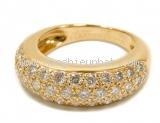 Nhẫn Cartier full diamond YG size 47