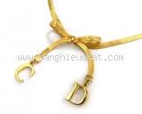 Vòng cổ Dior màu vàng SS