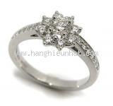 Nhẫn kim cương Tiffany&Co bông hoa size 10