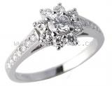 Nhẫn kim cương Tiffany&Co bông hoa size 12