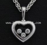 Vòng cổ Chopard 3P kim cương trái tim