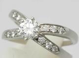 Nhẫn kim cương Tiffany&Co size 10