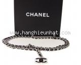 Thắt lưng Chanel dây da đen