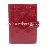 Bọc sổ tay louis Vuitton màu đỏ