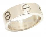 Nhẫn Cartier love ring vàng trắng #48