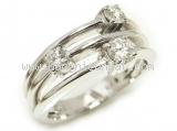Nhẫn kim cương K18WG 0.50ct