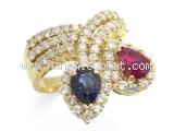 Nhẫn kim cương  K18YG 0.15ct