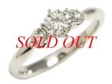 Nhẫn kim cương Pt900 0.340ct