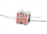 Vòng cổ Hermes H cube màu hồng