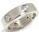 Nhẫn Cartier love ring 6P diamond size 54