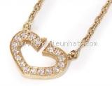 Vòng cổ Cartier C heart diamond YG