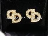 Bông tai Christian Dior màu vàng