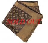 Khăn Louis Vuitton maron ánh kim