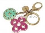 Móc chìa khóa Louis Vuitton màu hồng vàng xanh
