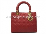 Túi xách Christian Dior Lady màu đỏ thẫm