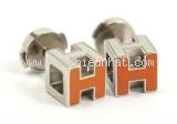 Bông tai Hermes H cube cam