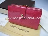 MS3393 Ví Louis Vuitton hồng gập đôi SALEOFF