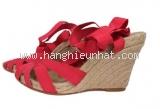 NEW Đôi sandal cao gót Ferragamo đỏ size 8
