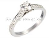 Nhẫn kim cương cartier size 49 Pt950