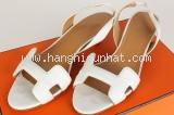 sandal Hermes trắng size 35