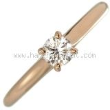 Nhẫn kim cương Catier K18PG 0.24ct size 51