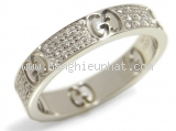 Nhẫn kim cương Gucci K18WG size 15