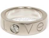Nhẫn kim cương Catier love ring K18WG 1P size 51