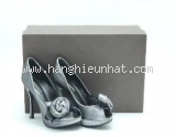 Đôi sandal cao gót Louis Vuitton size 35 đen bạc