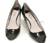 Đôi sandal cao gót Miu Miu size 38 1/2 màu đen