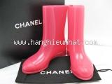 Boot đi mưa Chanel màu hồng size 36