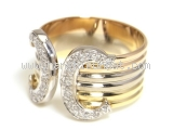 Nhẫn Cartier size 57 3 màu kim cương