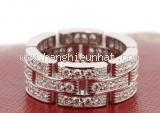 Nhẫn Cartier Panthere kim cương trắng
