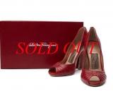 Ms3408 Giày Ferragamo size 7C đỏ cao