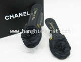 Dép cao gót Chanel size 36 C màu đen