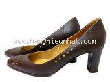 Giày cao gót Hermes size 36 1/2 màu nâu chữ H