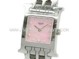 Đồng hồ Hermes kim cương HH1.210 mặt hồng