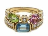 Nhẫn Bvlgari đá nhiều màu
